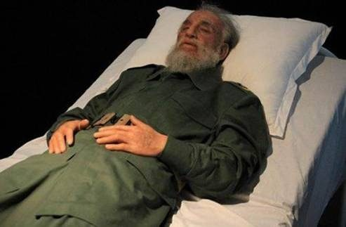 photo of Fidelle Castro on his death bed