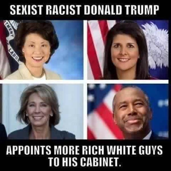 trump rich white privilege meme